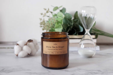 White Tea & Ginger Soy Candle Scented Candles Zenkle