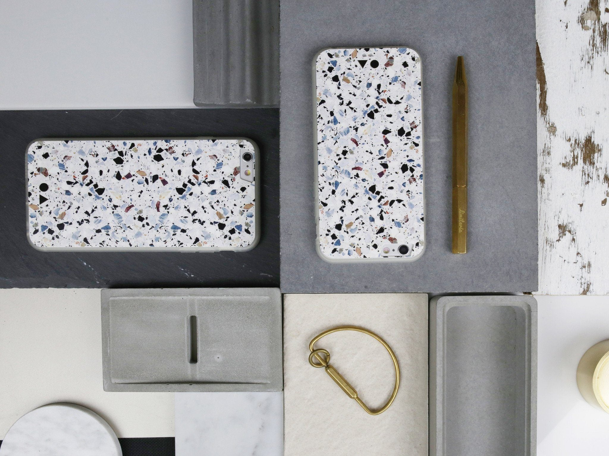 White Terrazzo iPhone Case - iPhone 6s Plus - Naiise