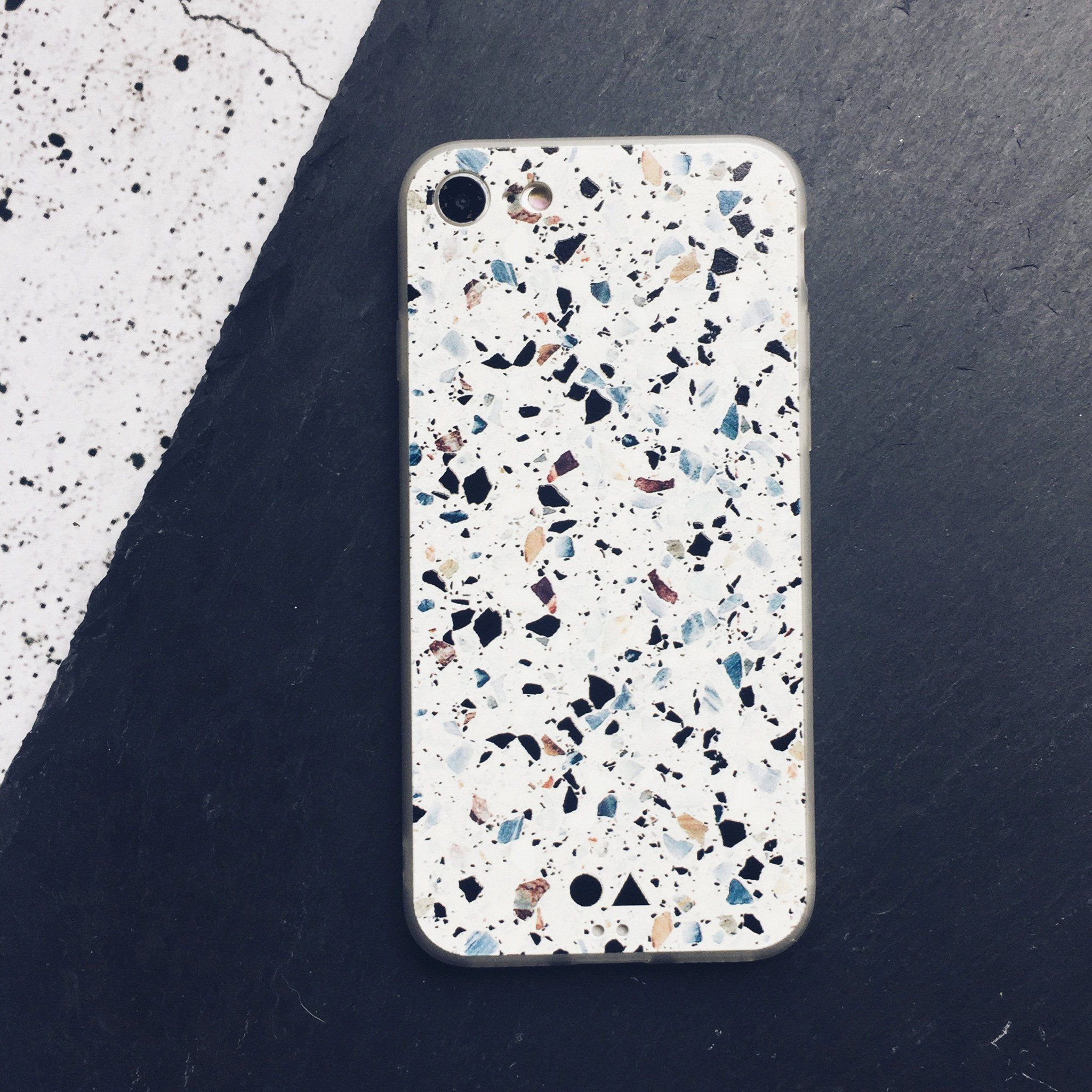 White Terrazzo iPhone Case - iPhone 7/8 - Phone Cases - FormMaker - Naiise