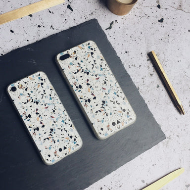 White Terrazzo iPhone Case - iPhone 7/8 Plus - Phone Cases - FormMaker - Naiise