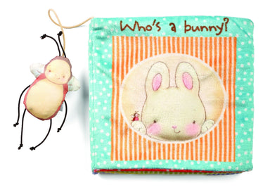 """Who's A Bunny?"" Soft Book - Children Books - Bunnies By The Bay - Naiise"