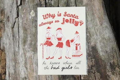 Why Is Santa Always So Jolly Card - Christmas Cards - The Kardiacs - Naiise