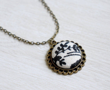 Winter Days Handmade Fabric Button Necklace - Necklaces - Paperdaise Accessories - Naiise