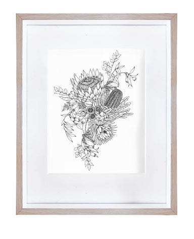 Winter Floral Art Print Prints Typoflora