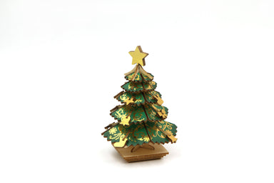 Wood Puzzle - Color Christmas Tree Puzzles Team Green