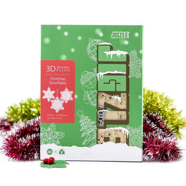 Wood Puzzle - Snowflakes Box Set (3 in one) Puzzles Team Green