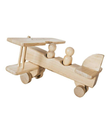 Wooden Propeller Toy Plane by Lettering and Life Kids Toys Little Happy Haus