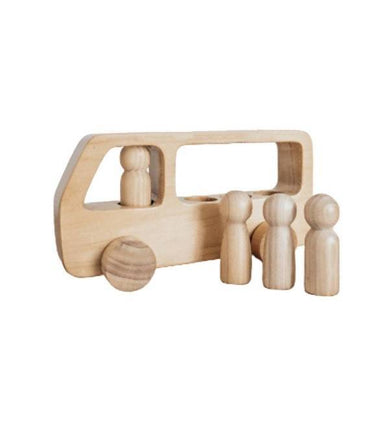 Wooden Toy Bus by Lettering and Life - Kids Toys - Little Happy Haus - Naiise