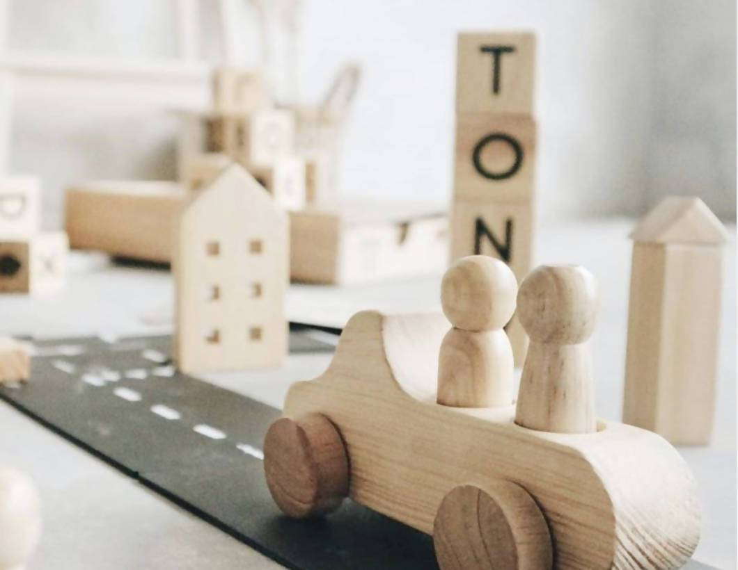 Wooden Toy Car by Lettering and Life - Kids Toys - Little Happy Haus - Naiise