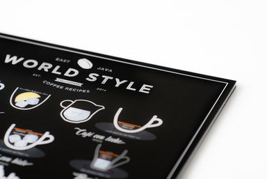 World Style Coffee EN poster 21x30cm (A4) //WSCEN2130 Posters Follygraph