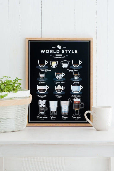 World Style Coffee EN poster 40x50cm // WSCEN4050 Posters Follygraph