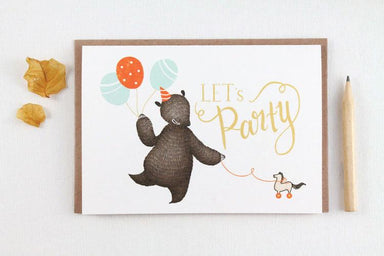 WW-GC#17 - Let's Party Greeting Card - Birthday Cards - Whimsy Whimsical - Naiise