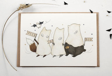 WW-HGC#5 - Peek-A-Boo Greeting Card - Halloween Cards - Whimsy Whimsical - Naiise