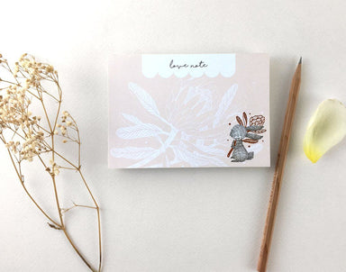 WW-MP#1 - Rabbit & King Protea - Notepads - Whimsy Whimsical - Naiise