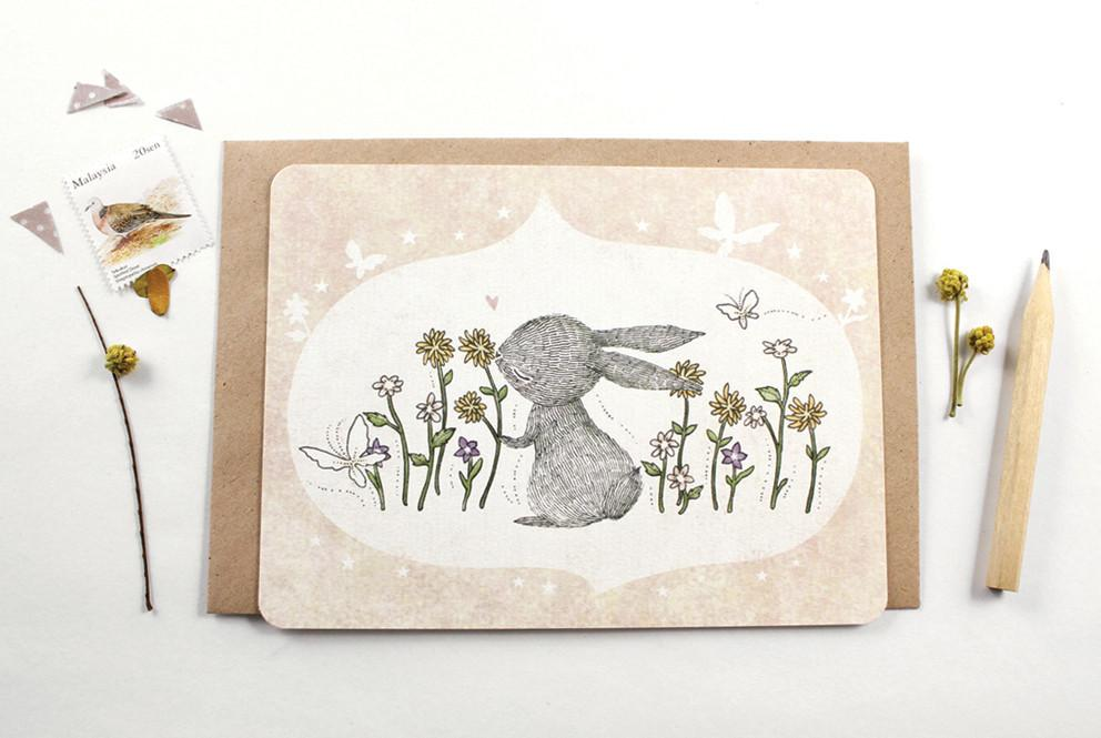 WW-NC#2 - I Love Spring Time Note Card - Generic Greeting Cards - Whimsy Whimsical - Naiise