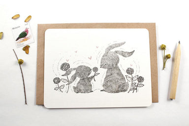 WW-NC#8 - Thank You - Mother Rabbit Note Card - Naiise
