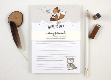 WW-NP#1 - Notes of the Day Notepad Notepads Whimsy Whimsical