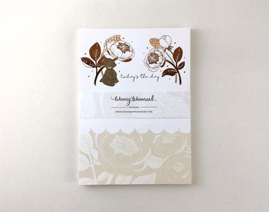 WW-NP#10 - Bear & David Austin Rose - Notepads - Whimsy Whimsical - Naiise