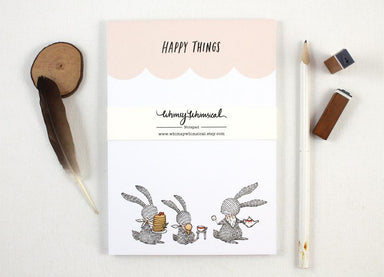 WW-NP#2 - Happy Things Notepad Notepads Whimsy Whimsical
