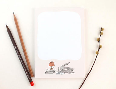WW-NP#8 - Writing My List Notepad Notepads Whimsy Whimsical