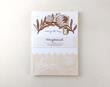 WW-NP#9 - Hedgehog & King Protea - Notepads - Whimsy Whimsical - Naiise