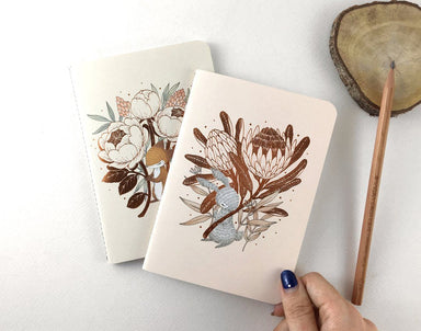 WW-PN#1 - Rabbit & King Protea - Notebooks - Whimsy Whimsical - Naiise