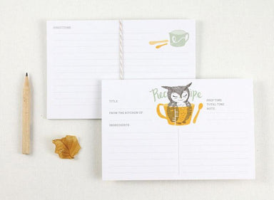 WW-RC#1 - Owl & Measuring Cup Recipe Card - Naiise