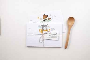 WW-RC#2 - Rabbit & Salad Bowl Recipe Card - Naiise