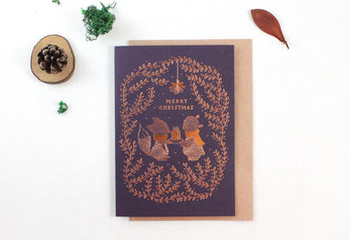 WW-XGC#20 - Merry Christmas, Copper Foil Greeting Card - Naiise