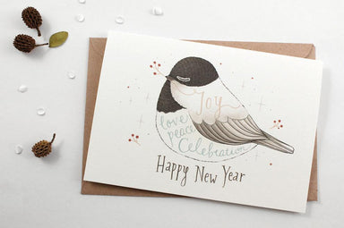 WW-XGC#4 - Happy New Year Greeting Card - New Year Cards - Whimsy Whimsical - Naiise