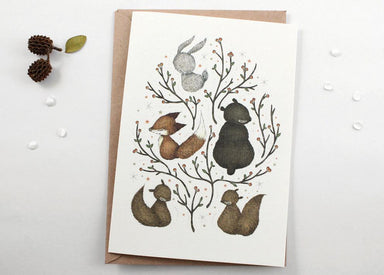WW-XGC#6 - Woodland Critters Greeting Card - Naiise