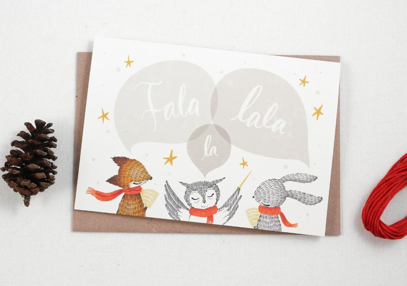 WW-XGC#8 - Fala Lala La Greeting Card - Christmas Cards - Whimsy Whimsical - Naiise