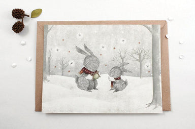 WW-XNC#2 - Let it Snow Greeting Card - Christmas Cards - Whimsy Whimsical - Naiise