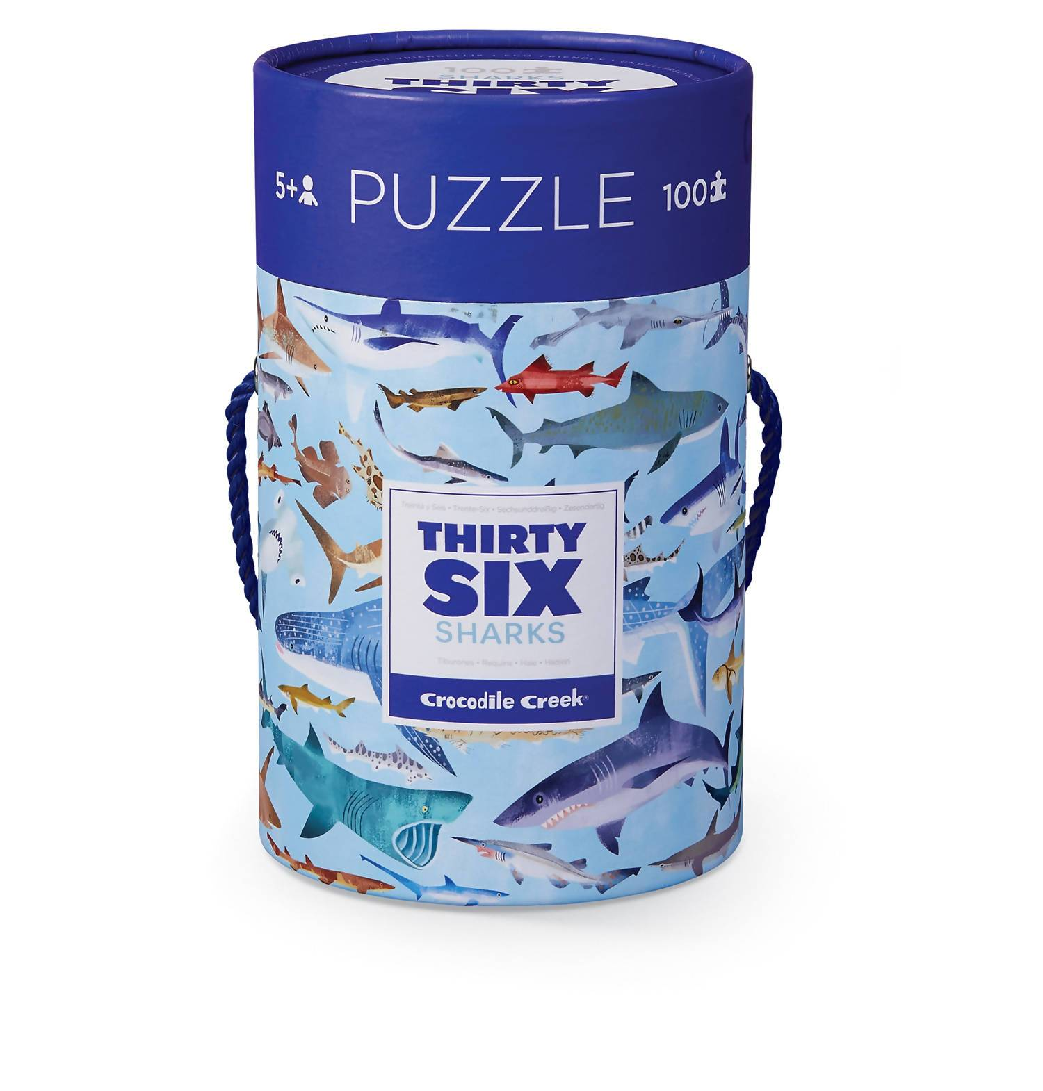 100-pc Puzzle - 36 Sharks - Kids Puzzles - The Children's Showcase - Naiise