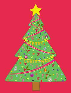 Xmas Ornament Tree Card - Christmas Cards - Fevrier Designs - Naiise