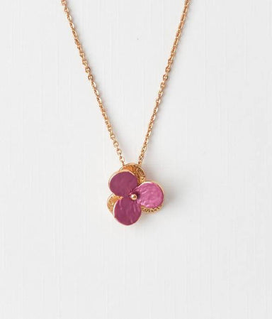 Viola- Rose Gold Plated Flora Pendant - Pendants - Forest Jewelry - Naiise