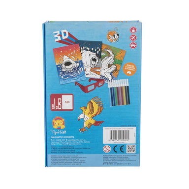 Tiger Tribe 3D Colouring Set - Fierce Creatures - Children Colouring Books - The Children's Showcase - Naiise
