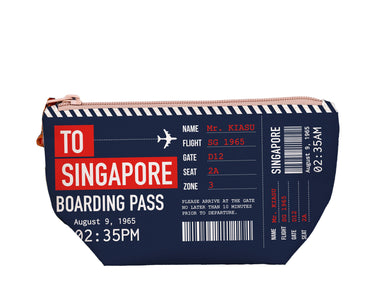 "SG Boarding Pass Medium Pouch Local Pouches Chalo P001 Navy 9 3/4""W x 5""H x 3"" D"