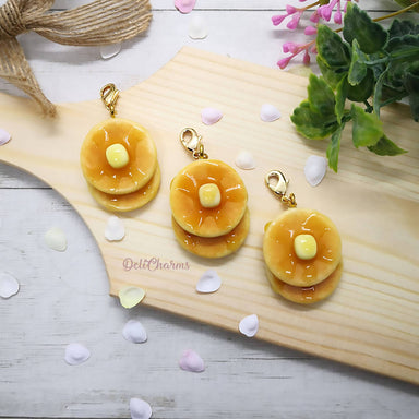 Double Pancake with Butter Charm - Charms - Deli Charms - Naiise