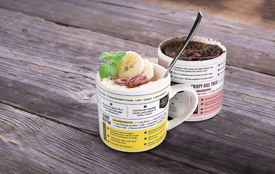 Fred Grub Mug Recipe Set of 4 - Mugs - The Planet Collection - Naiise