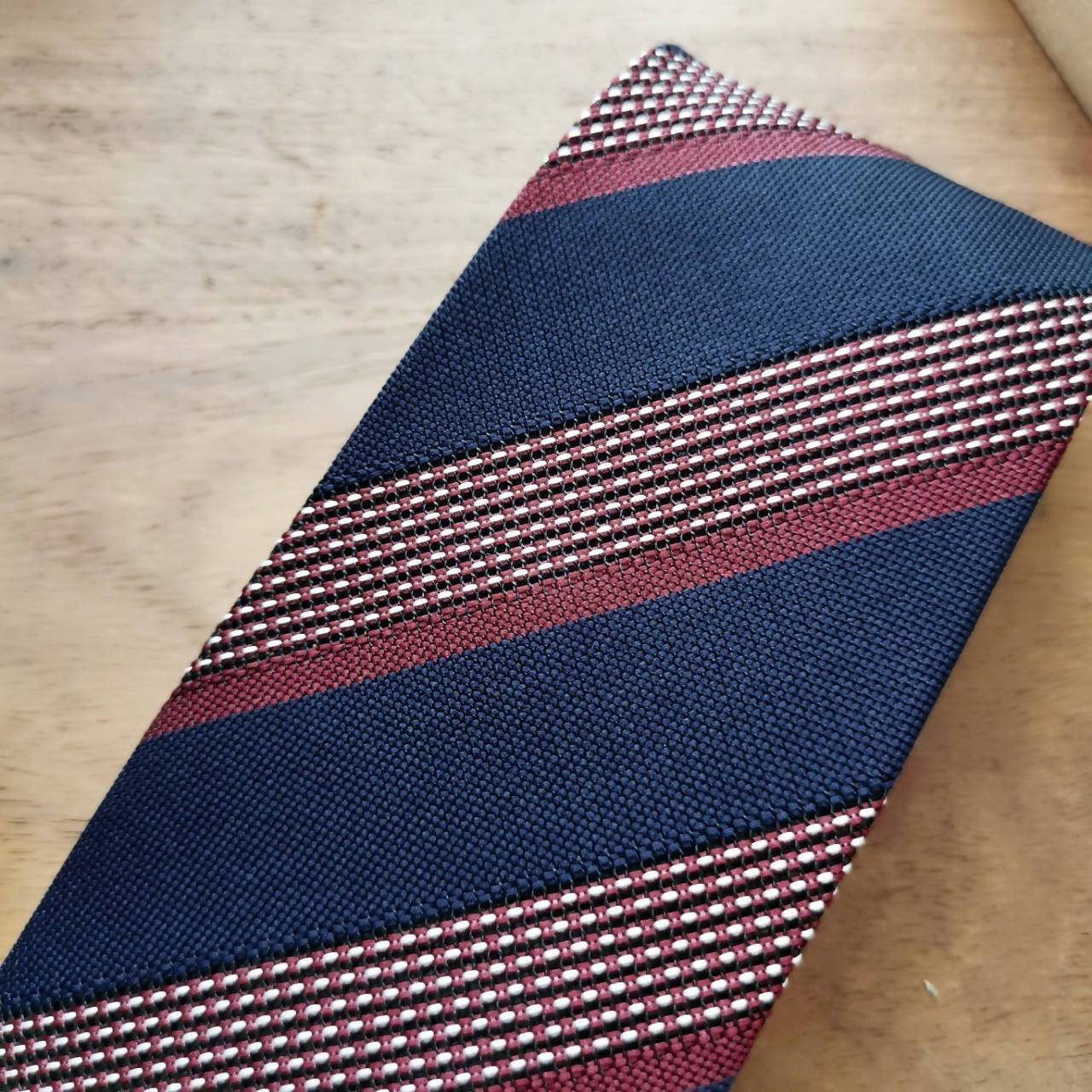 Vintage Royal Blue with Red Stripe Necktie - Ties - Tuesday Evening - Naiise