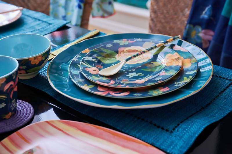 Melamine Dinner Plate with Selma's Fall Flower Print - Kitchenware - The Children's Showcase - Naiise