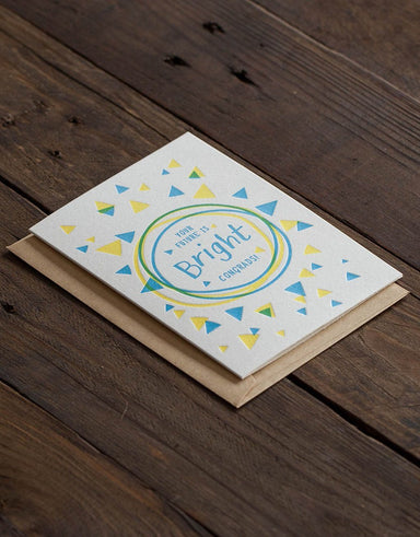 Your Future Is Bright Card Graduation Cards The Alphabet Press