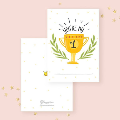 You're My #1 Card - Generic Greeting Cards - YOUNIVERSE DESIGN - Naiise