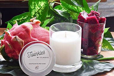 Dragon Fruit Soy Candle Scented Candles Twinkles by Gladys