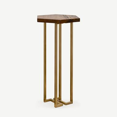 YUAN Loft Vase Table / Stand (With Brass Legs) Side Tables SCENE SHANG