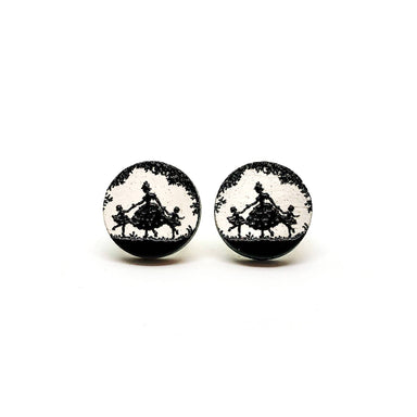 Mom With Twins Girls Wooden Earrings - Earring Studs - Paperdaise Accessories - Naiise