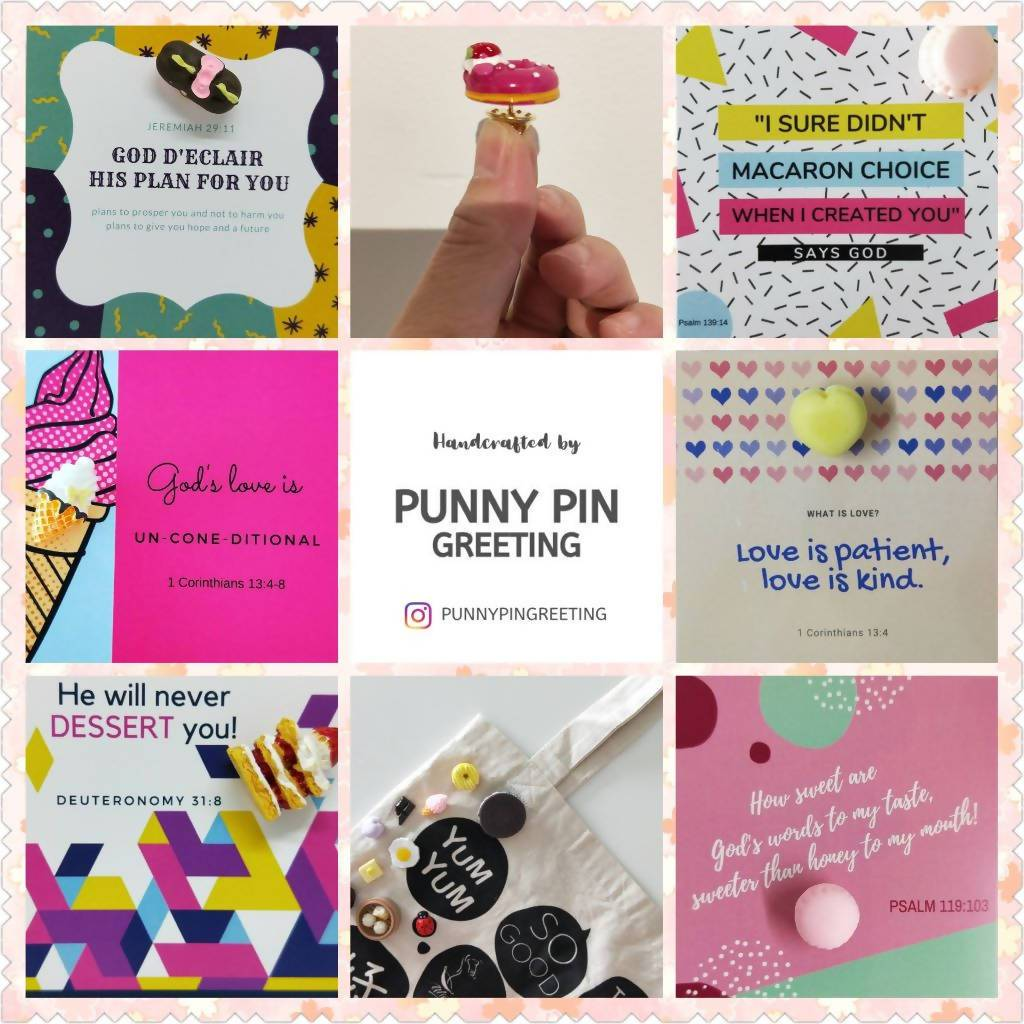 Pin-Cards ~ Christian Messages (Set of Assorted 10) - Pins - Punny Pin Greeting - Naiise