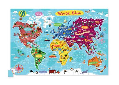 200-pc Puzzle+Poster - World Cities - Kids Puzzles - The Children's Showcase - Naiise