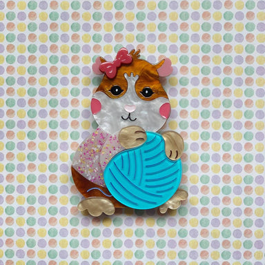 Peggy the Guinea Pig Brooch - Brooches - She Loves Blooms - Naiise